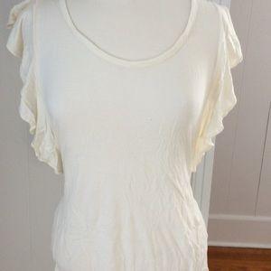 Banana Republic ruffled side/sleeve blouse